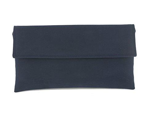 LONI - Cartera de mano para mujer gris plateado mediano azul marino