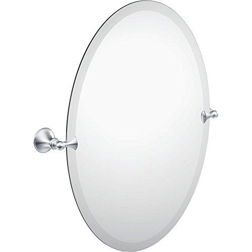 Moen DN2692CH Glenshire Bathroom Oval Tilting Mirror, (Tilting Wall Mirror)