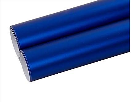 "Satin Chrome Blue Brushed Aluminum Vinyl Wrap Sticker Air Bubble Free 36/""x60/"" In"