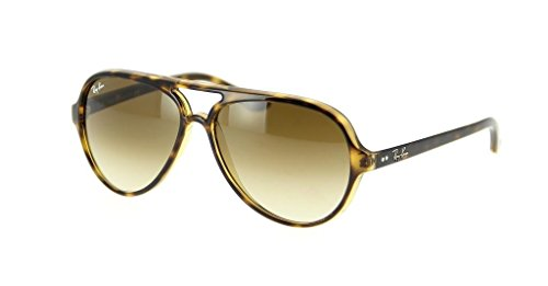 (Ray Ban RB4125 710/51 59mm Light Havana/Crystal Brown Gradient Cats 5000 Bundle-2)