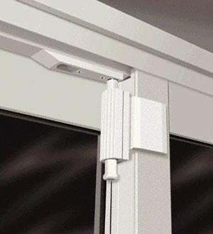 Patio Guardian PDG01-W Patio Door Guardian Lock - White (Aluminum Sliding Patio Frame Doors)