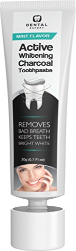 Dental Expert Activated Charcoal Teeth Whitening Toothpaste - Mint Flavor - (0.7 fl oz) by Dental Expert (Image #2)