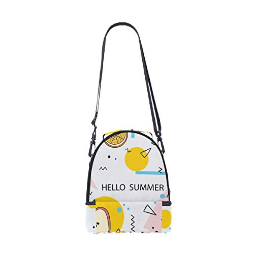 almuerzo frutas con Alinlo de el de correa Summer piña diseño para Hello para hombro el térmica ajustable Bolsa PwSYUxP