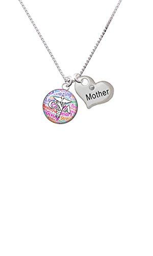 CNA Heart Necklace (Silver) - 9