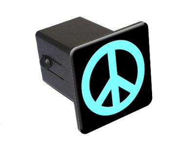 (Graphics and More Peace Sign Light Blue - 2