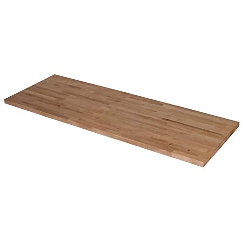 LungMongKol Shop Wood Butcher Block Kitchen Countertop 50 x 25 x 1.5 Inches in Unfinished Birch Use for Bar, Bathroom, Kitchen, Laundry Room, Office, Sideboard, 44 Lbs