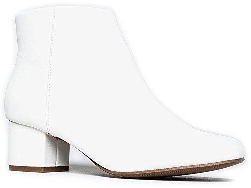 Jody Ankle Boot, White PU, 7 B(M) US