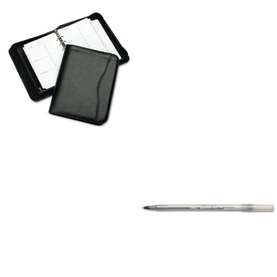 KITBICGSM11BKDTM82631 - Value Kit - DAYTIMER'S INC. Avalon Leatherlike Vinyl Zippered Organizer Starter Set (DTM82631) and BIC Round Stic Ballpoint Stick Pen (BICGSM11BK) - Avalon Organizer