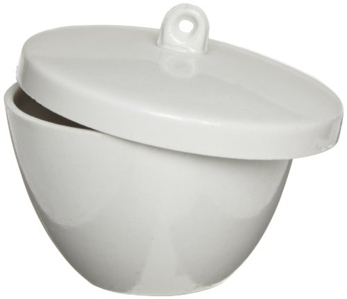 American Educational Low Form Porcelain Crucible with Lid, 30mL Capacity (Bundle of 10)