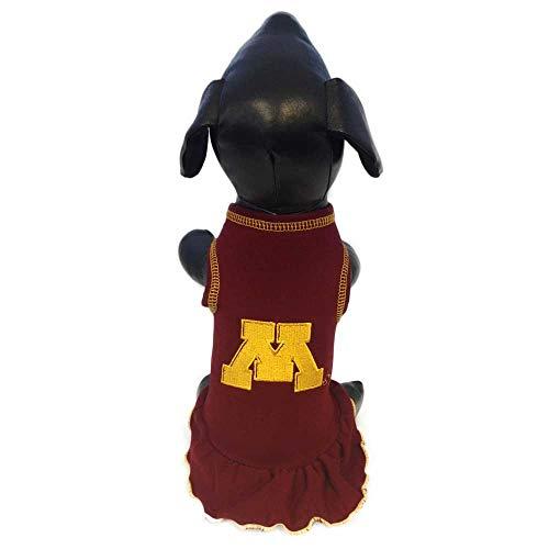 NCAA Minnesota Golden Gophers Cheerleader Dog Dress, Team Color, Small