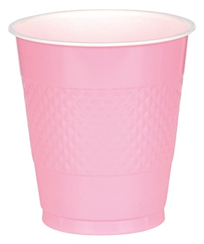 (New Pink Plastic Cups Big Party Pack, 16 Oz., 50 Ct.)