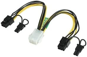 Pin Video Card Y-Splitter Power Adapter Cable PCI-Express 8 Pin to 2 x 8 6+2