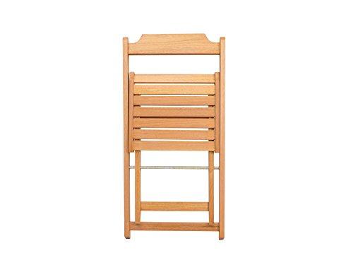 Wood Folding Chair (Set of 2) - Assembled