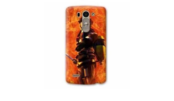 Amazon.com: Case Carcasa LG K10 pompier police - - flamme B ...