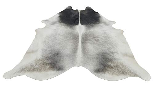 - Grey Cowhide Rug – Large Western Brazilian Gray Cow Hide Rug – Real, Natural, Authentic – 95 x 78 Inches – Ideal for Upholstery, Rugs, Bar Stools 1642