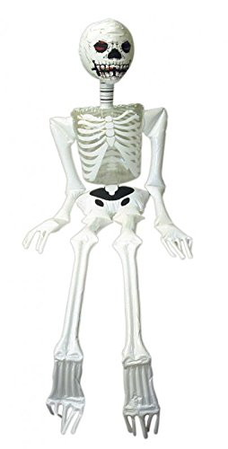 HENBRANDT Halloween Spooky Horror Skeleton Inflatable Decoration White 183cm Tall V99-134HNB