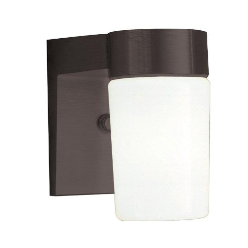 Sunset Lighting F4511-31 Outdoor Wall Sconce with Opal Glass, Black Finish