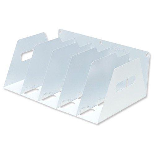 Rotadex LAR5 Support de rangement portable en métal pour classeur à levier Blanc 425 x 300 x 160 mm Rotadex Systems Ltd 42330X