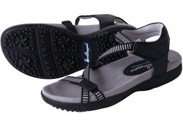 [Sandbaggers Galia Women's Golf Sandal (8, Black)] (Ladies Golf Fancy Dress Costumes)
