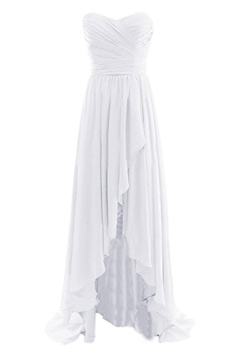 Formal Long Dress Evening Women's Low Gowns Bridal Bess White Bridesmaid High Fxf0SY