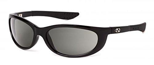 ONOS Petit Boy Polarized Sunglasses (+2.5 Add Power), Black, Green/Amber