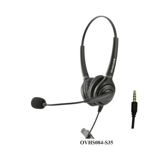 Ovislink Dual Ear Call Center Headset with 3.5mm 4 conduc...