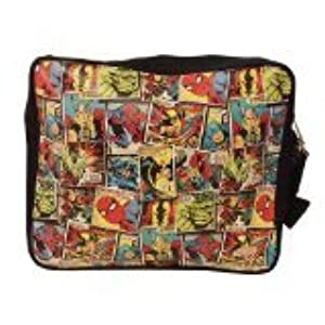 BB Designs Marvel Comic Mania Multi Character Messenger Bag by BB Designs