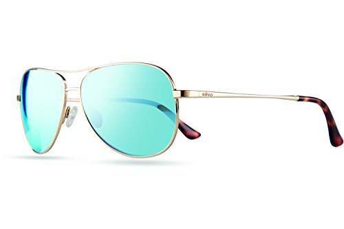 Revo Relay Polarized Aviator Sunglasses, Gold Blue Water, 59 - Sunglasses Revo Sale For