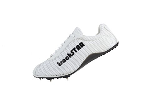 Running Track Spikes Shoes (8, White) (Track Spikes Men Shoes)