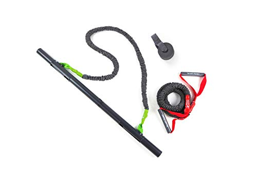 Smart Stick – Patented Portable Home Gym Workout System with Resistance Bands Set and Detachable Bar for Full Body Workout