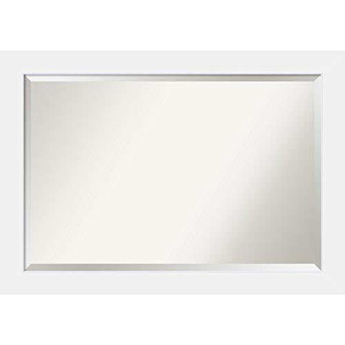 Amanti art bathroom mirror extra large fits - Standard bathroom mirror dimensions ...