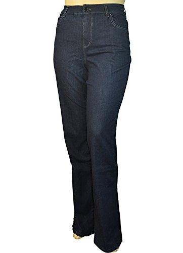 Alfa Global Womens Plus Size Tall Tummy Control Bootcut Delux Stretch Denim Pants