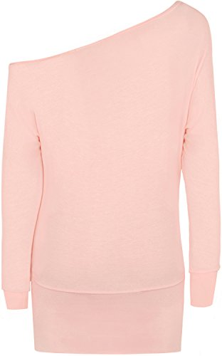 WearAll Women's Off-Shoulder Batwing Top - Pink - US 8-10 (UK 12-14) by WearAll (Image #1)