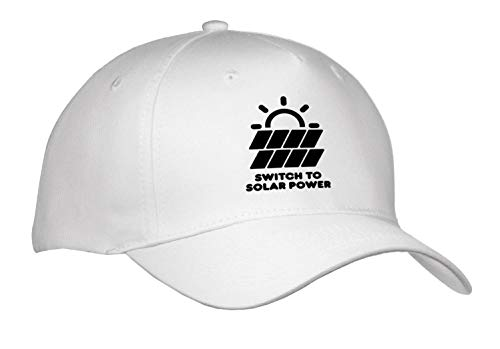 Illustrations - Switch to Solar Power Electric Power from The Sun Alternative Energy - Caps - Adult Baseball Cap (Cap_294721_1) ()