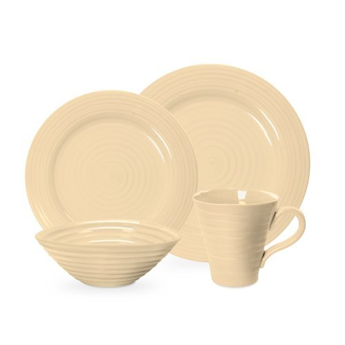 Portmeirion Sophie Conran Biscuit 4 Piece Placesetting by Portmeirion