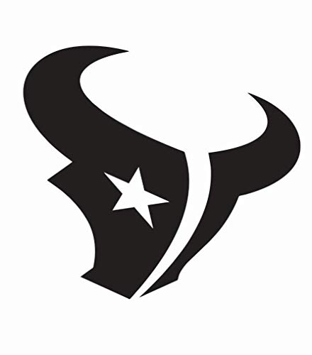 Houston Texans Window Decal | 3 Size Vinyl Die Cut Car Sticker | Houston Texans Wall Art (Black Matte, 4 inch)