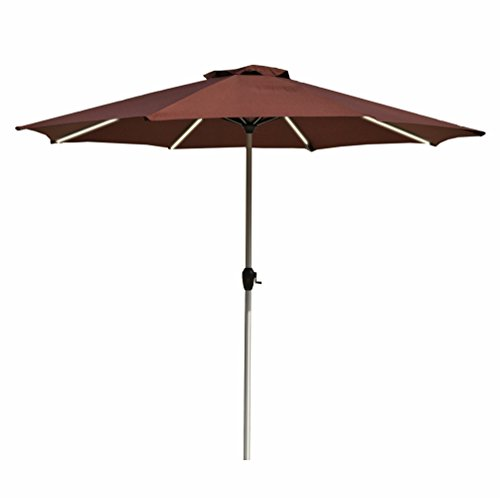 Led Umbrella Amazon: Le Papillon 9-Feet Outdoor Umbrella LED Light Bar Market