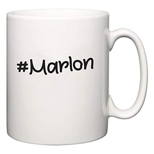 Lplpol Marlon Hashtag Cup Funny Novelty Slogan Mug 11oz - Marlon Moose