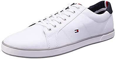 TOMMY HILFIGER Men's Flag Trainers, White, 7.5 US