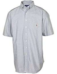 Men's Big & Tall Classic Fit Button Down Shirt-Slate