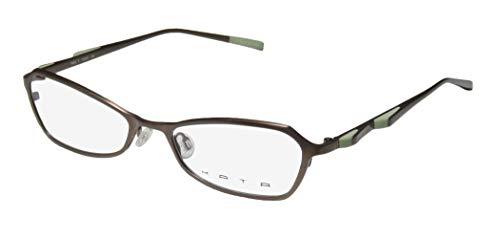 Kata Peel 1 For Ladies/Women Designer Full-Rim Shape Titanium Authentic Made In Japan Eyeglasses/Eyewear (50-17-135, Brown/Pistachio)