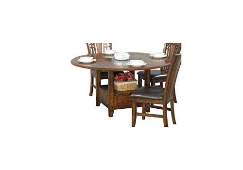 Winners Only 364906 Zahara Dining Table with Drop Leaf, Brown