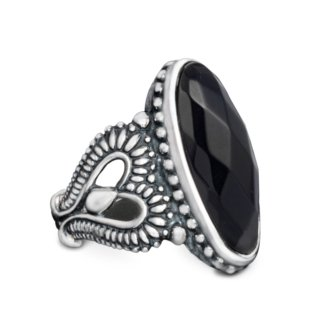 Relios Sterling Silver Faceted Black Onyx