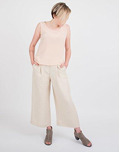 Women's Beige Linen Culottes by BAUH designs