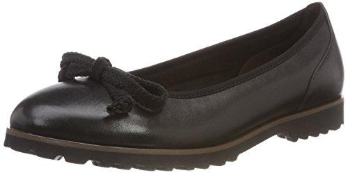 Shoes Femme cognac Ballerines schwarz Noir 27 Gabor Jollys ZwF6qdBB