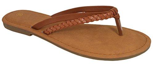 Cambridge Selezionare Donna Slip-on Intrecciato Intrecciato Cinturino Infradito Sandalo Infradito Sandalo Piatto
