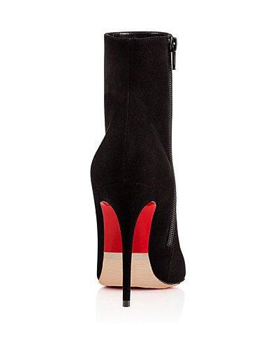 A Cn40 Moda Uk6 5 Trabajo Vestido Xzz Vellón Eu39 us8 Fiesta Oficina Tacón 5 Zapatos Noche Mujer Botines La Negro Botas De Stiletto Black Y wqz0BSw