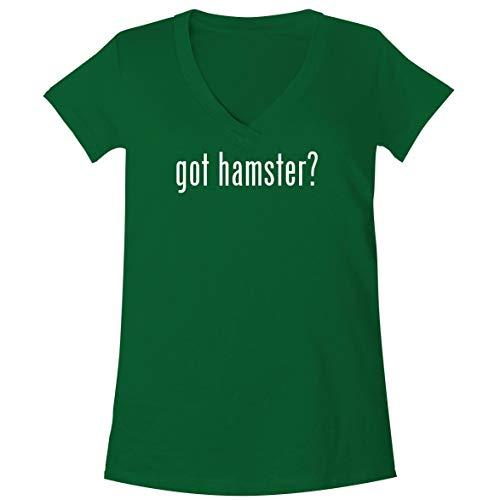 The Town Butler got Hamster? - A Soft & Comfortable Women's V-Neck T-Shirt, Green, X-Large