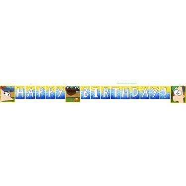 Phineas and Ferb Party Birthday Banner