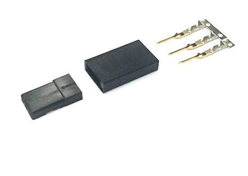 (FidgetKute 30 x Female Servo Connector & Protector Housing +Gold Plate Crimp for Jr Futaba)